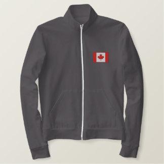 カエデの葉の旗のスポーツのカナダのホッケー 刺繍入りジャケット