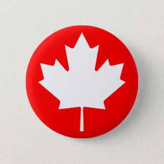 カエデの葉の記号ボタン 5.7CM 丸型バッジ