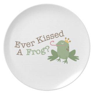 カエルに接吻しましたか。 プレート