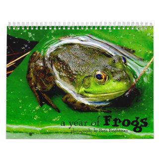 カエルのカレンダーの年 カレンダー