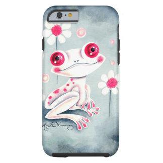 カエルのガーリーなピンクのかわいい iPhone 6 タフケース