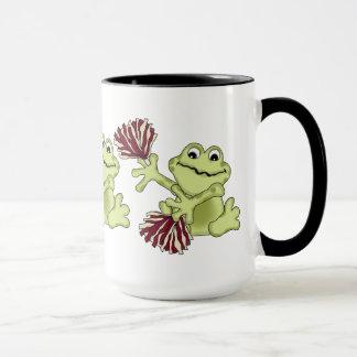 カエルのコーヒー・マグのチアリーダーをするスポーツ マグカップ
