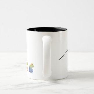 カエルのコーヒー・マグの跳躍 ツートーンマグカップ