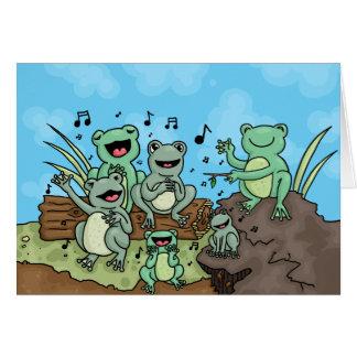 カエルのコーラス カード
