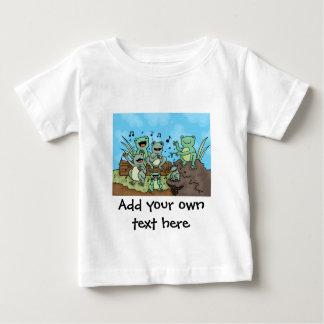 カエルのコーラス ベビーTシャツ