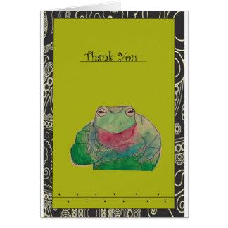 カエルのサンキューカード カード
