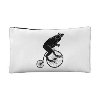 カエルのシルエットの乗馬のヴィンテージのバイク コスメティックバッグ