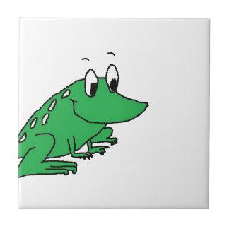 カエルのスケッチ タイル