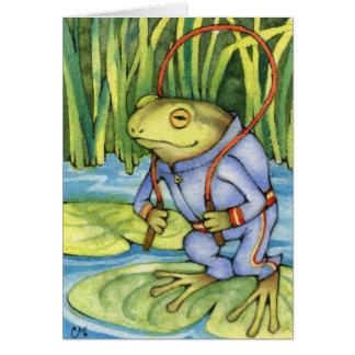 カエルのトレーニング-かわいく水陸両生的な芸術 カード