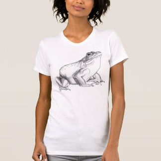 カエルのワイシャツのウシガエルの芸術のTシャツのカッコいいのカエルのギフト Tシャツ