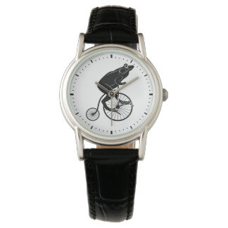 カエルの乗馬のペニーのFarthingのバイク 腕時計