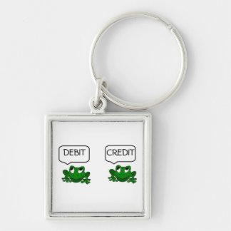 カエルの借方か信用Keychain キーホルダー