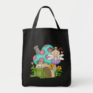 カエルの妖精のToadstoolの家のTシャツおよびギフト トートバッグ