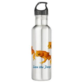 カエルの明るいオレンジを絶えたヒキガエル救って下さい ウォーターボトル