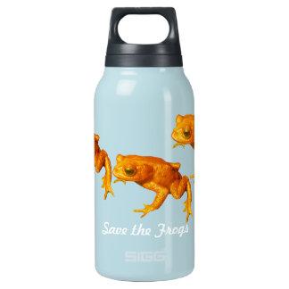 カエルの明るいオレンジを絶えたヒキガエル救って下さい 断熱ウォーターボトル