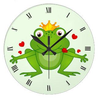 カエルの王子の柱時計 ラージ壁時計