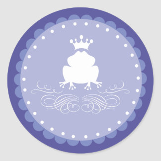 カエルの白馬の王子様 ラウンドシール
