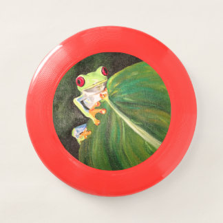 カエルの緑 Wham-Oフリスビー