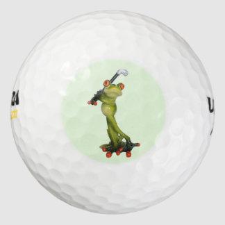 カエルの置物のゴルファー超500の間隔のゴルフ・ボール ゴルフボール