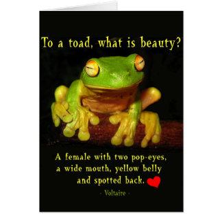 カエルの美しい カード
