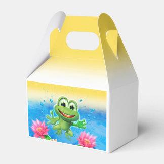 カエルの誕生会のテークアウト箱の跳躍 フェイバーボックス