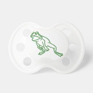 カエルの輪郭の跳躍 おしゃぶり