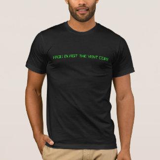カエルの送風出口の中心 Tシャツ