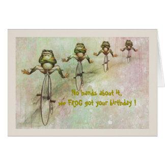 カエルの遅れて誕生日 カード