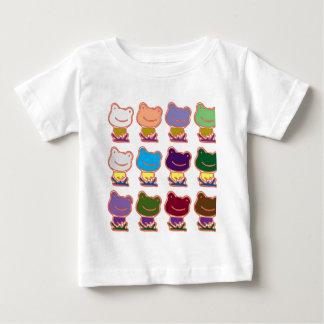 カエルのFROGGYパターン ベビーTシャツ