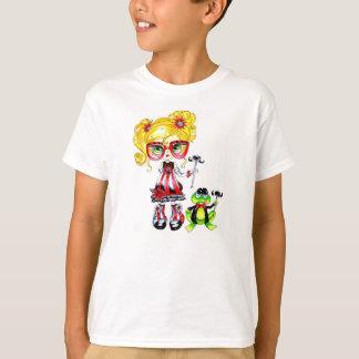 カエルのMosutacheの浮浪児のTシャツ Tシャツ