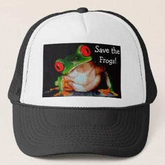 カエルは、カエルを救います! キャップ