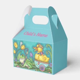 カエル及びアヒルのイースターエッグの切り妻の好意箱は個人化なります フェイバーボックス