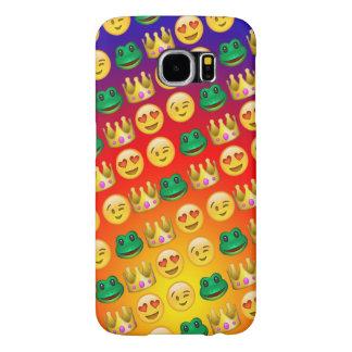 カエル及びプリンセスEmojisパターン Samsung Galaxy S6 ケース