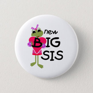 カエル新しく大きいSis 5.7cm 丸型バッジ