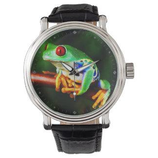 カエル1の腕時計及び数字の選択 腕時計