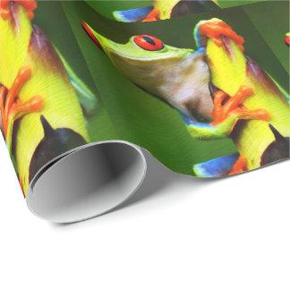 カエル2の包装紙 ラッピングペーパー