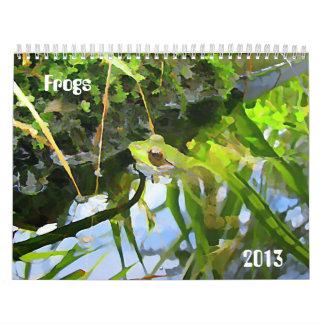 カエル2013年 カレンダー