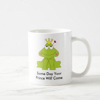 カエル、日Comeあなたの王子 コーヒーマグカップ