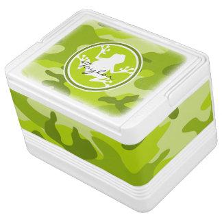 カエル;  緑の迷彩柄、カムフラージュ IGLOOクーラーボックス