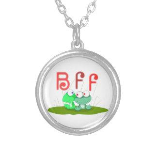 カエルBFFのネックレス シルバープレートネックレス
