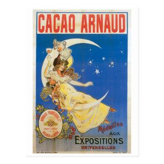 カカオのアルノーのヴィンテージチョコレート飲み物の広告の芸術 ポストカード