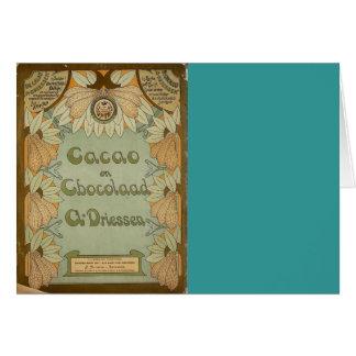 カカオen Chocolaadのオランダチョコレート1900年 カード
