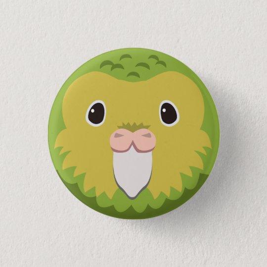 カカポ-Kakapo 3.2cm 丸型バッジ