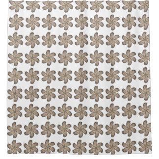 カキの花のシャワー・カーテン-デザインD シャワーカーテン