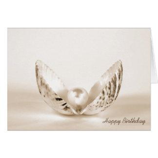 カキ貝の誕生日真珠 カード