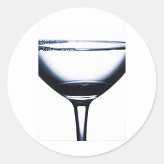 カクテルのマルティーニガラス ラウンドシール