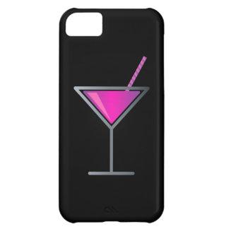カクテルのマルティーニピンクの紫色のガラス iPhone5Cケース