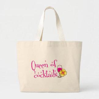 カクテルの女王! 熱帯ワイングラスを使って ラージトートバッグ