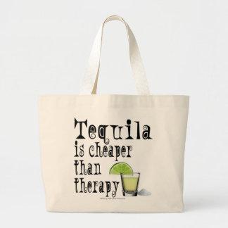 カクテルの戦闘状況表示板、テキーラはセラピーより安いです ラージトートバッグ