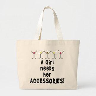 カクテルの戦闘状況表示板、女の子は彼女の付属品を必要とします ラージトートバッグ